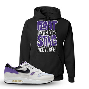 Air Max 1 DNA Series Sneaker Black Pullover Hoodie | Hoodie to match Nike Air Max 1 DNA Series Shoes | Float Like A Butterfly Lettering
