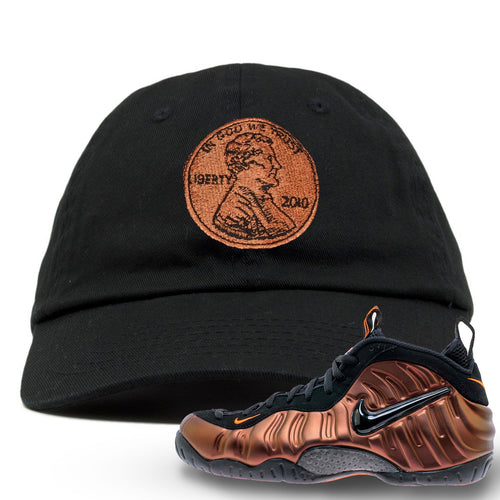 Foamposite Pro Hyper Crimson Sneaker Match Penny Logo Black Dad Hat