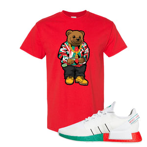 NMD R1 V2 Ciudad De Mexico T Shirt | Red, Sweater Bear