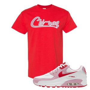 Air Max 90 Love Letter T Shirt | Chiraq, Red