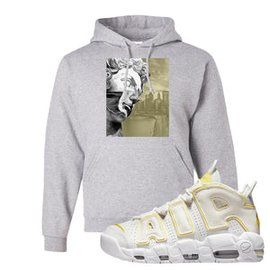Air More Uptempo Light Citron Hoodie | Miguel, Ash