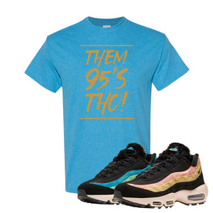 Air Max 95 Sergio Lozano T Shirt | Them 95's Tho, Heather Sapphire