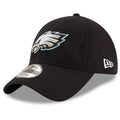the left side of the philadelphia eagles super bowl 52 dad hat is embroidered in white