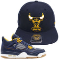 Dunk From Above 4s Matching Bulls Hat | Jordan 4 Dunk From Above Chicago Bulls Sneaker Snapback