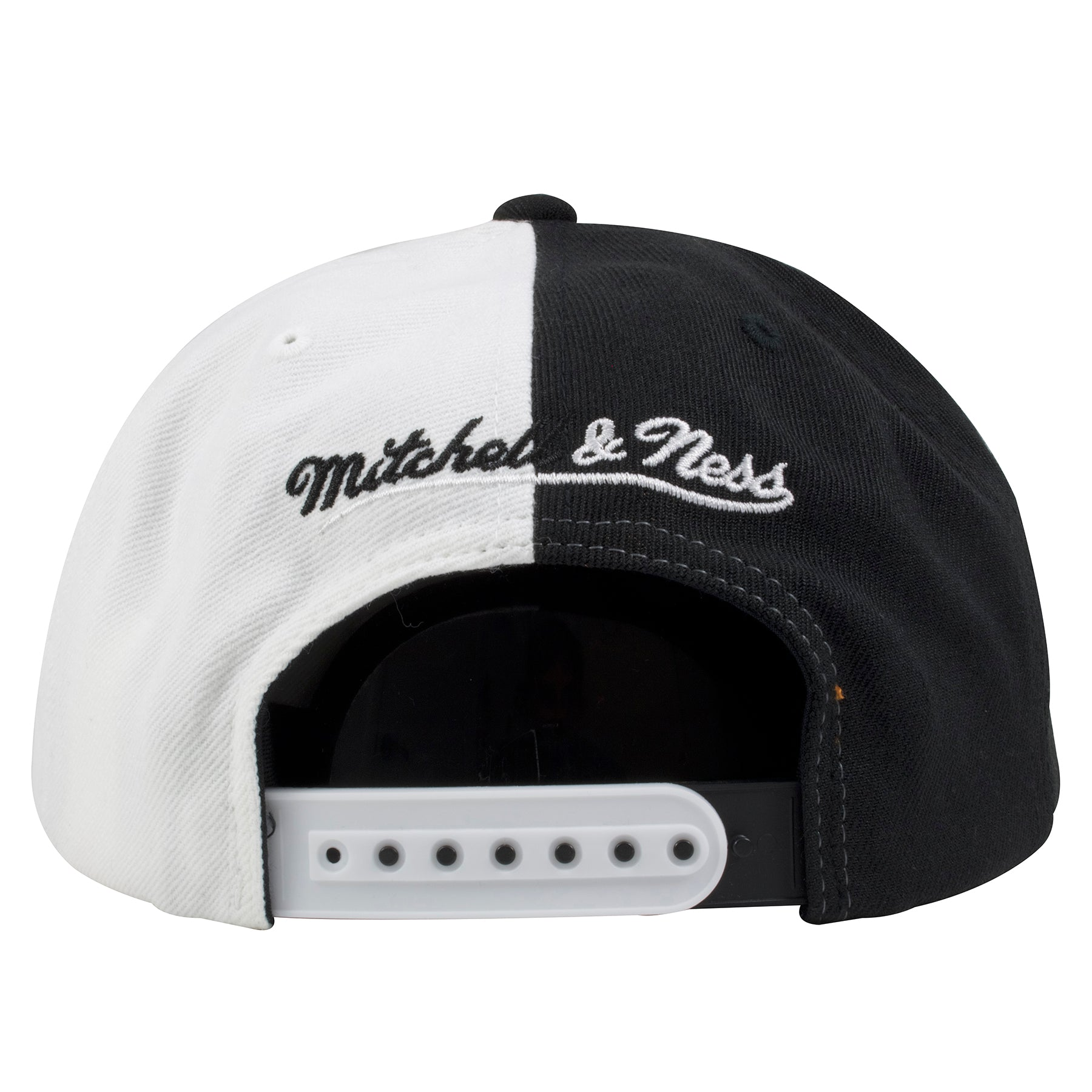 9eff2cee ... Philadelphia 76ers Two-Tone Black and White Mitchell and Ness Snapback  Hat