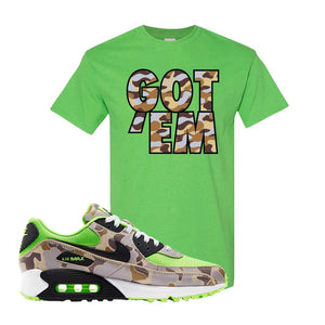 Air Max 90 Duck Camo Ghost Green T Shirt | Electric Green, Got Em