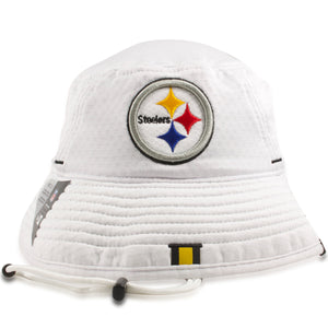 Pittsburgh Steelers 2019 Training Camp White Training Bucket Hat