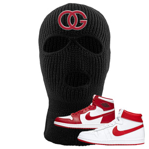 Jordan 1 New Beginnings Pack Sneaker Black Ski Mask | Winter Mask to match Nike Air Jordan 1 New Beginnings Pack Shoes | OG