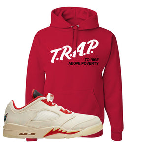 Air Jordan 5 Low Chinese New Year 2021 Hoodie | Trap To Rise Above Poverty, Red