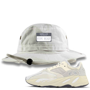 Yeezy Boost 700 Analog Sneaker Hook Up Hello My Name Is Hype Beast Pablo White Bucket Hat