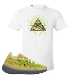 Yeezy Boost 380 Hylte Glow T Shirt | All Seeing Eye, White