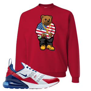 Air Max 270 USA Crewneck | Red, Sweater Bear