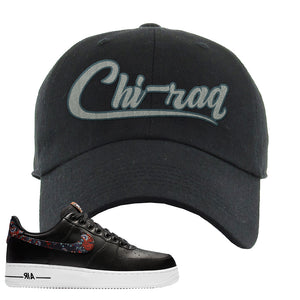 Air Force 1 Low Black Floral Dad Hat | Chiraq, Black