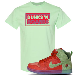 SB Dunk High 'Strawberry Cough' T Shirt | Mint Green, Dunks N Boards
