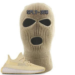 Yeezy Boost 350 V2 Flax Sneaker Khaki Ski Mask | Winter Mask to match Adidas Yeezy Boost 350 V2 Flax Shoes | Sply-350