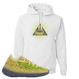 Yeezy Boost 380 Hylte Glow Hoodie | All Seeing Eye, White