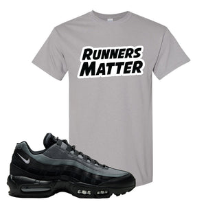 Air Max 95 Black Smoke Grey T Shirt | Runners Matter, Gravel