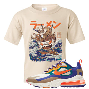 Air Max 270 React ACG Kid's T-Shirt | Sand, Ramen Monster