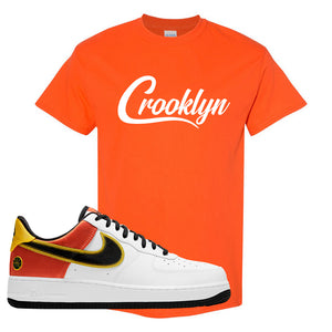Air Force 1 Low Roswell Rayguns T Shirt | Crooklyn, Orange
