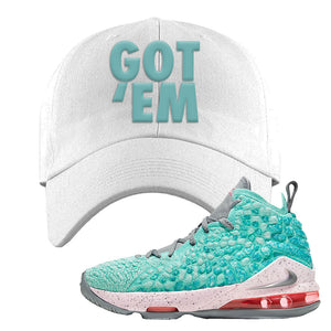 LeBron 17 'South Beach' Dad Hat | White, Got Em