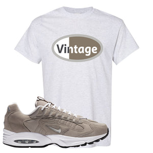 Air Max Triax 96 Grey Suede T Shirt | Vintage Oval, Ash