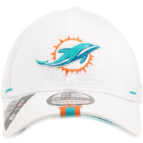 Miami Dolphins 2019 Training Camp White 39THIRTY Flexfit Cap