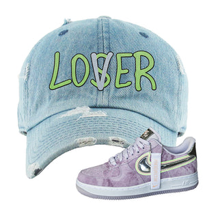 Air Force 1 P[her]spective Distressed Dad Hat | Light Blue, Lover