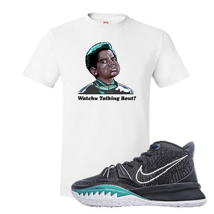 Kyrie 7 Pre Heat T-Shirt | Watchu Talking Bout, White