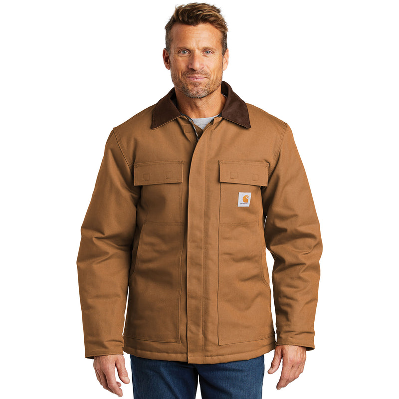Carhartt Men's Tall Duck Traditional Brown Jacket