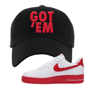 Air Force 1 Low Red Bottoms Dad Hat | Black, Got Em