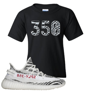 Yeezy Boost 350 V2 Zebra 350 Black Sneaker Hook Up Kid's T-Shirt