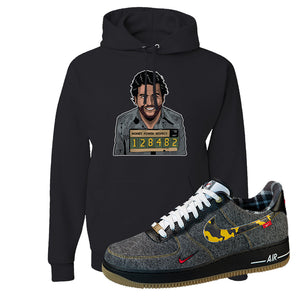 Air Force 1 Low Plaid And Camo Remix Pack Hoodie | Escobar Illustration, Black