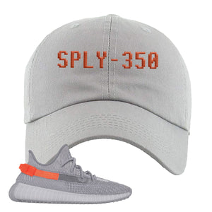 Yeezy Boost 350 V2 Tail Light Sneaker Light Gray Dad Hat | Hat to match Adidas Yeezy Boost 350 V2 Tail Light Shoes | Sply-350
