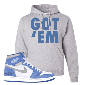 Air Jordan 1 High Hyper Royal Pullover Hoodie | Got Em, Ash