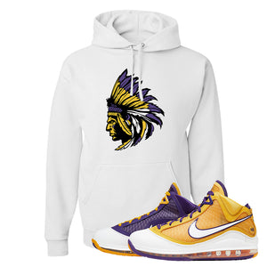 Lebron 7 'Media Day' Hoodie | White, Indian Chief