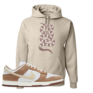 Dunk Low Medium Curry Hoodie | Coiled Snake, Sand