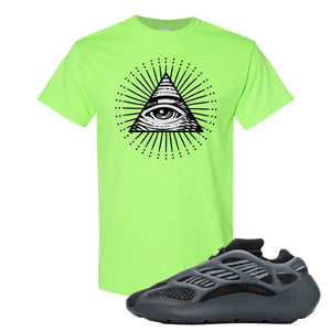 Yeezy 700 V3 Alvah T Shirt | Neon Green, All Seeing Eye