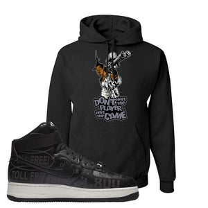 Air Force 1 High Hotline Hoodie | Don't Hate The Playa, Black