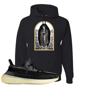 Yeezy Boost 350 v2 Carbon Hoodie | Virgin Mary, Black