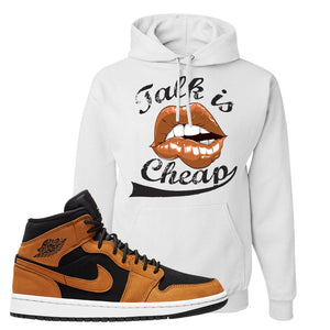 Air Jordan 1 Mid Wheat Hoodie | Talk Is Cheap, White