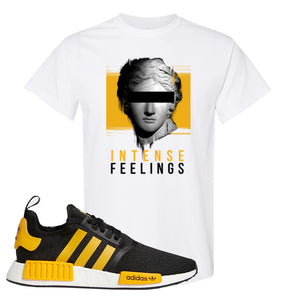 NMD R1 Active Gold T Shirt | White, Intense Feelings