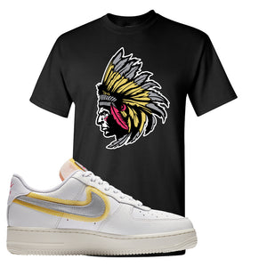Air Force 1 Low 07 LX White Gold T Shirt | Indian Chief, Black