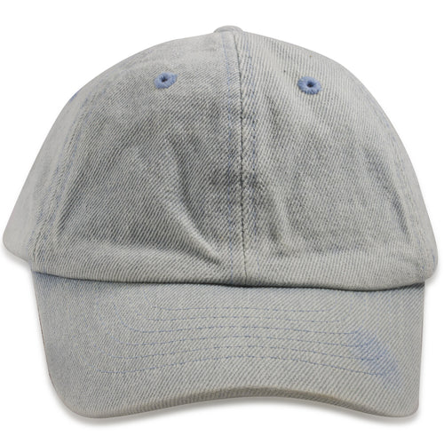 Blank Light Denim Kid's Sized Adjustable Dad Hat