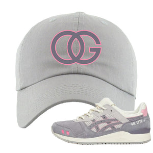 END x Asics Gel-Lyte III Grey And Pink Dad Hat | OG, Light Gray