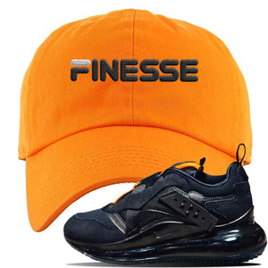 Air Max 720 OBJ Slip Sneaker Safety Orange Dad Hat | Hat to match Nike Air Max 720 OBJ Slip Shoes | Finesse