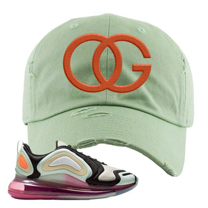 Air Max 720 WMNS Black Fossil Sneaker Sage Green Dad Hat | Hat to match Nike Air Max 720 WMNS Black Fossil Shoes | OG