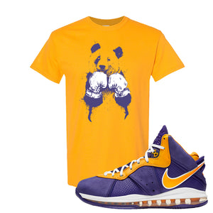 Lebron 8 Lakers T Shirt | Boxing Panda, Gold