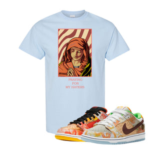 SB Dunk Low Street Hawker T Shirt | God Told Me, Light Blue