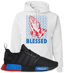 NMD R1 Black Red Boost Matching Hoodie | Sneaker hoodie to match NMD R1s | Blessed, White