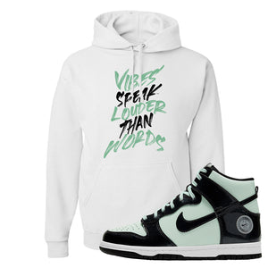 Dunk High All Star 2021 Hoodie | Vibes Speak Louder Than Words, White